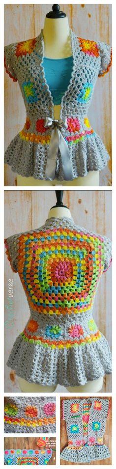 Crochet Garden Party Jacket Free Pattern