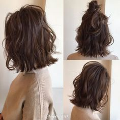 Messy short hairstyles are everywhere. Japanese hairstyle design has always had its characteristics. Girls Short Haircuts, Cool Short Hairstyles, Permed Hairstyles, Trending Hairstyles, Formal Hairstyles, Weave Hairstyles, Messy Short Hair, Short Hair Cuts, Medium Hair Styles