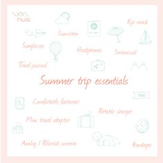 List of things to pack for your summer trip Polaroid Camera, Portable Charger, Summer Essentials, Summer Travel, Journal, Photo And Video, Mini, Instagram, Polaroid