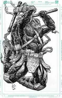 Teenage Mutant Ninja Turtles - Michelangelo by Allen Geneta *