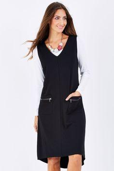 Threadz clothing Ponti Dress - Womens Knee Length Dresses at Birdsnest Online