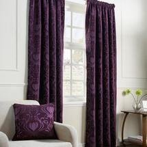 Aubergine Deco Curtain Collection