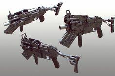 Scifi rifle speedmodel, Tor Frick on ArtStation at http://www.artstation.com/artwork/scifi-rifle-speedmodel