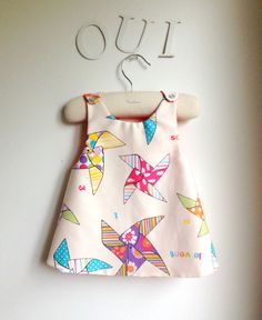 Girls Dress  Reversible Pinafore Top  by chocolatineboutique, $25.00