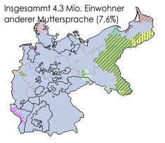 non-Germany langage people map