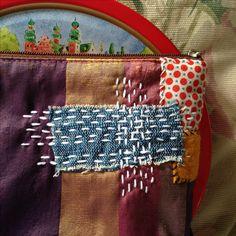 Sashiko on my bag. #sashiko #indigo #borotextile