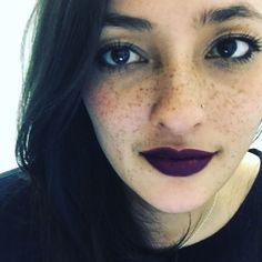 Trying @stilacosmetics liquid lipstick in Chianti brought my freckles out. #freckles #liquidlipstick #selfie #beautyaddict #beautylover #makeup #makeupaddict #lipstick #me