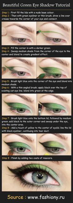 Beautiful Green Eye Shadow
