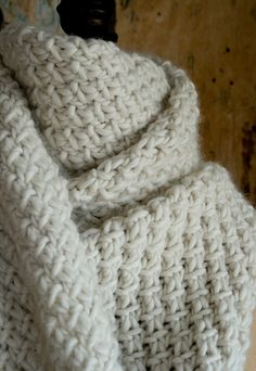 Super Soft Merino Snowflake Scarf! by the purl bee, via Flickr