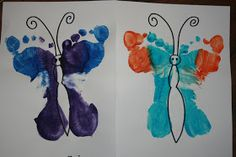 This is our art project from our first day of preschool. It's a Handprint Peacock!    Tissue Paper Campfire    Handprint Campfires    Fo...