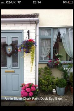 We don't sell UPVC window frames at Encore but we did sell Chalk Paint® decorative paint by Annie Sloan to a customer who painted her UPVC window frames OUTSIDE!!!!  Fab in Duck Egg Blue!   A-maz-ing!