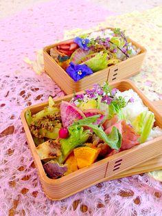 bento  spring food 楽しいお出かけのお供に、春爛漫お弁当