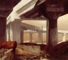 Rick Amor Urban Landscape, Landscape Art, Landscape Paintings, Building Art, Artist Gallery, Australian Artists, Beautiful Paintings, Love Art, Contemporary Artists