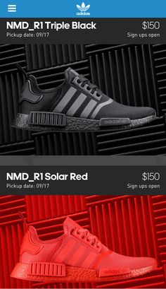 sports shoes 1b49c 83272 adidas NMD Black   Solar Red on the Confirmed App Adidas Preto, Tênis Adidas ,