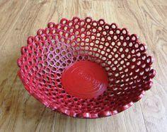 Basket bowl recycled magazine catalog unikat eco by fantasmaniaxx