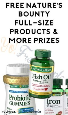 New Month, Enter Those Codes Again! FREE Nature's Bounty Full-Size Product, 3-Month Product Supply & More Prizes From Natures Bounty Rewards Program [Verified Received By Mail]