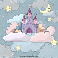 We've put together a collection of 100 FREE cartoon background vectors for all kinds of projects. All illustrations come in easy to edit vector formats. Girl Cartoon, Cartoon Art, Castle Cartoon, Castle Vector, Cartoon Background, Fairytale Castle, Free Cartoons, Baby Art, Princesas Disney