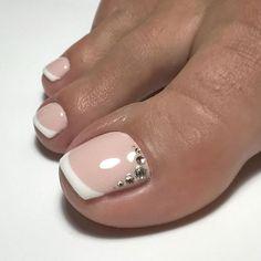 Pretty Toe Nails, Cute Toe Nails, Toe Nail Color, Toe Nail Art, Acrylic Toes, Toe Nail Designs, French Pedicure Designs, Feet Nails, Toenails