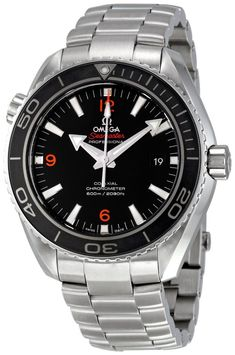 Men watches : Omega Men's 232.30.46.21.01.003 Planet Ocean Big Size Black Dial Watch
