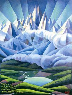 luce montagne nuvole - Gerado Dottori