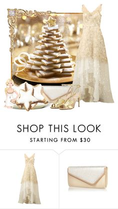 """""""Christmas Cookie Tree"""" by doilygirl ❤ liked on Polyvore featuring Notte by Marchesa, River Island and Valentino"""