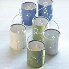 If you're looking for some alternative Christmas light ideas, then check out these Stunning DIY Lanterns. Reusing some old tin cans, you can create these beautiful lanterns to light up the night. Place them inside to add a warm and cozy ambiance, or