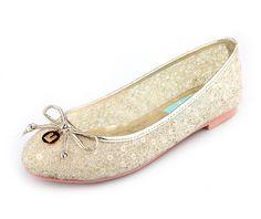 Gold Angela Ballet Flats