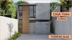 Modern House Facades, Modern House Design, House Plans 2 Storey, Small Modern House Plans, Facade House, Prefab Homes, Amazing Architecture, House Floor Plans, Custom Homes