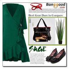 Green Dress by Banggood 15/20 by esma178 ❤ liked on Polyvore featuring SCP