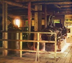 Engine room at the power plant near village Belo-omut