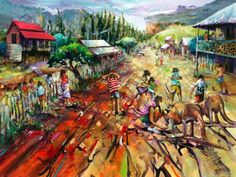 """The Entertainers"" limited editin signed print on canvas by Donald James Waters available from Landsborough Galleries"