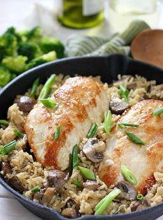 One pot chicken mushroom and rice