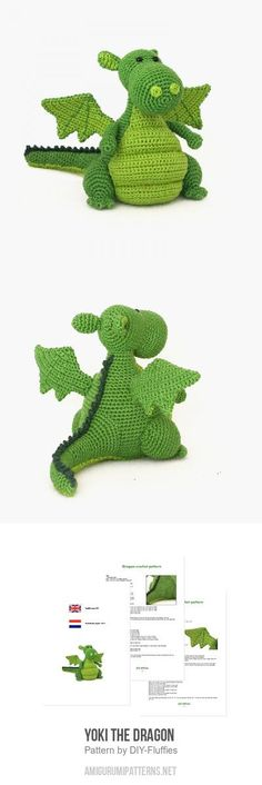 Yoki The Dragon Amigurumi Pattern
