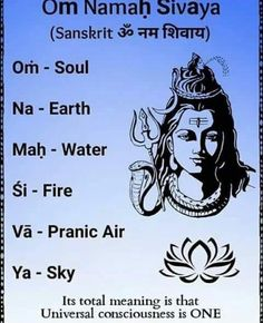 Oṁ Namaḥ Śivāya (Sanskrit ॐ नम शिवाय) is believed to be a powerful healing mantra, beneficial for all physical and mental ailments. Soulful recitation of this mantra, especially during meditation can bring peace to the heart and joy to the [Ātman] or soul Yoga Mantras, Mantras Chakras, Meditation Mantra, Om Mantra, Sanskrit Mantra, Hindu Mantras, Meditation Space, Positive Mantras, Walking Meditation