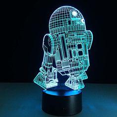 Star Wars Millenium Falcon 3D DECO Light 3D Light FX Neuf!!!