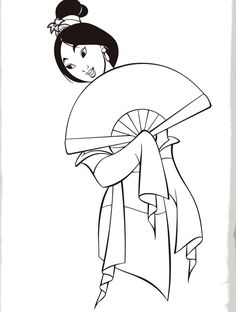 mulan coloring pages uploaded to pinterest