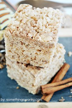 Toffee Snickerdoodle Rice Krispies Treats