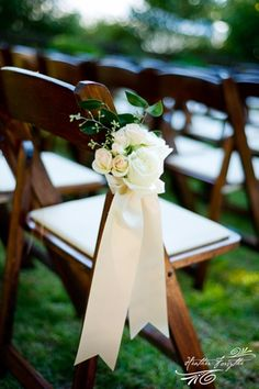 simple cluster of flowers tied with beautiful satin ribbon
