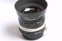 Nikon NIKKOR S Auto 35mm f2.8 Non-Ai lens with cap hood