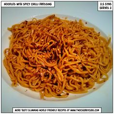 This sweet and spicy noodles are ready in less than five minutes - just combine everything for a low-syn tasty lunch!