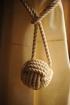 2 Nautical Curtain Tie Backs by OYKNOT on Etsy, $25.00