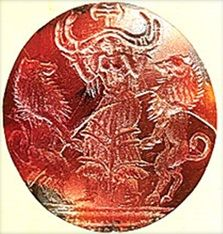 Goddess of Minoan Crete - with Lions - Potnia Theron