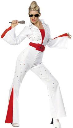Disfraz de Elvis Presley™ para mujer. Disponible en www.vegaoo.es