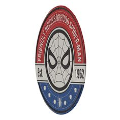 "Who needs a neighborhood watch with Spider-Man on the job? This embossed metal sign rocks a retro feel that any fan of America's favorite (and only) web-slinging hero would love. Features unpainted metal details for added industrial style.  Marvel officially licensed product Fast Shipping Easy Returns Product Category: Metal Signs & Wall Art Material Description: Embossed Metal Size: 12"" W X 12"" H X 0.125"" D Weight: 0.4 LBS Tin Signs, Metal Signs, Wall Signs, Neighborhood Watch, Dc Comics Superheroes, Industrial Style, Spiderman, The Neighbourhood, Rocks"