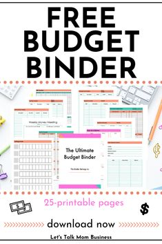 Free Budget Binder Printable - Topic Money - Economics, Personal Finance and Business Diary Printable Budget Sheets, Monthly Budget Printable, Free Printables, Budgeting Finances, Budgeting Tips, Monthly Expenses, Budget Binder, Free Budget Planner, Budget Planner Template