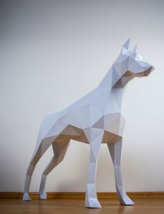 Doberman papertrophy paper animal dog