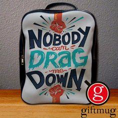 1D One Direction Drag Me Down Lyric Logo Backpack for Student