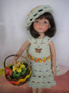 """Easter Outfit for Dianna Effner's Little Darling & Tonner 14"""" Betsy McCall Dolls. Ends 3/22/15"""