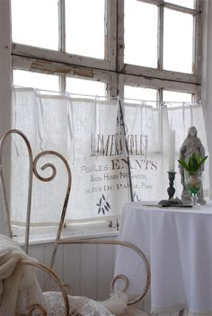french bistro curtains - Aliment Leinen Curtain Jeanne d´arc living Scheibengardine