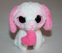 """Cookie Key Clip Ty Beanie Baby Boos Pink White Valentines Day stuffed plush 3"""" TyCookie"""